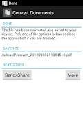 Screenshot of Convert Documents
