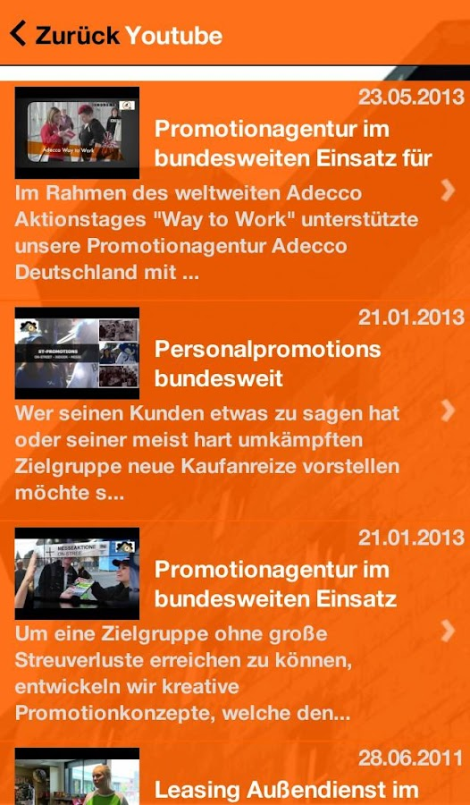 PROMOTIONAGENTUR- screenshot