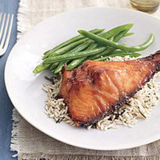 Brown-Sugar-Mustard-Glazed Salmon.
