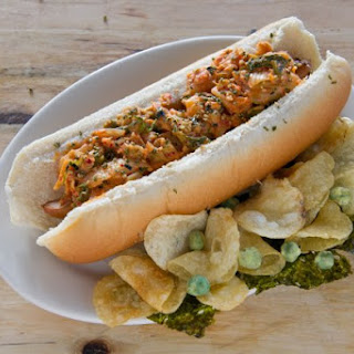 Footlong Kimchi Hot Dog