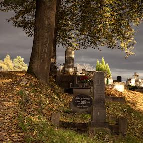 Remembering ancestors. by Ján Hrmo - City,  Street & Park  Cemeteries ( cintorin, esto )