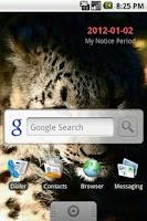Screenshot of Notice Period Widget