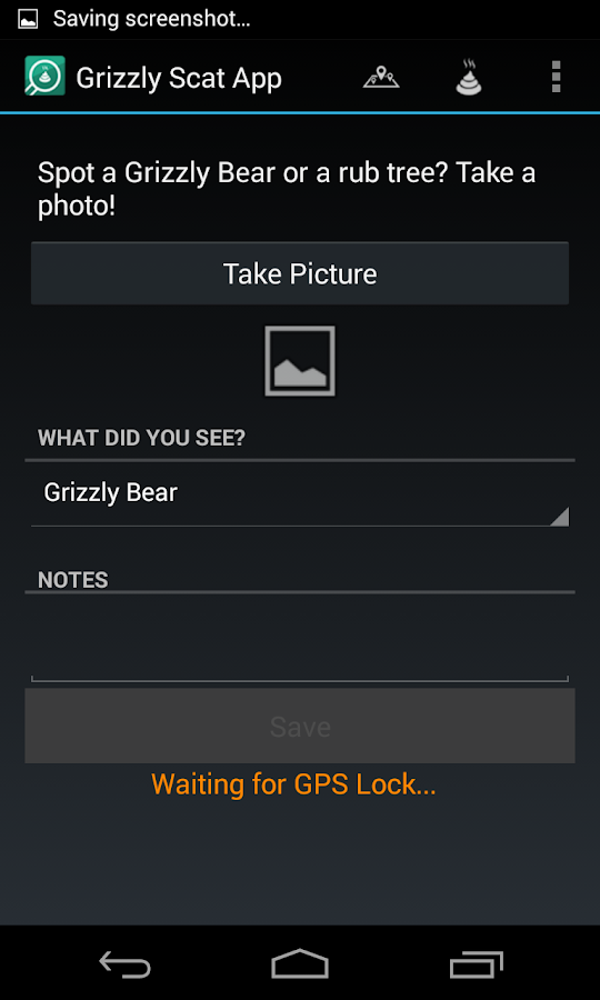 Grizzly Scat App- screenshot