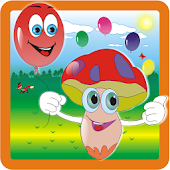 Toy balloons & funny mushrooms