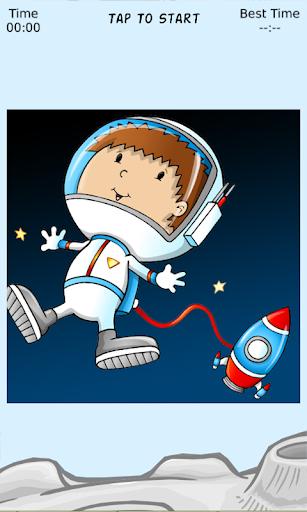 Astronaut Fun Sliding Puzzle