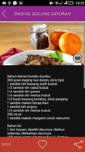 Resep Masakan Daging