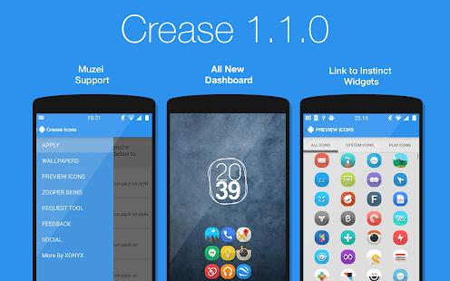Crease - Icon Pack - screenshot thumbnail