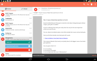 Screenshot of SpamDrain - email spam filter