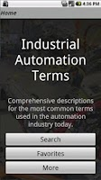 Screenshot of Industrial Automation Terms