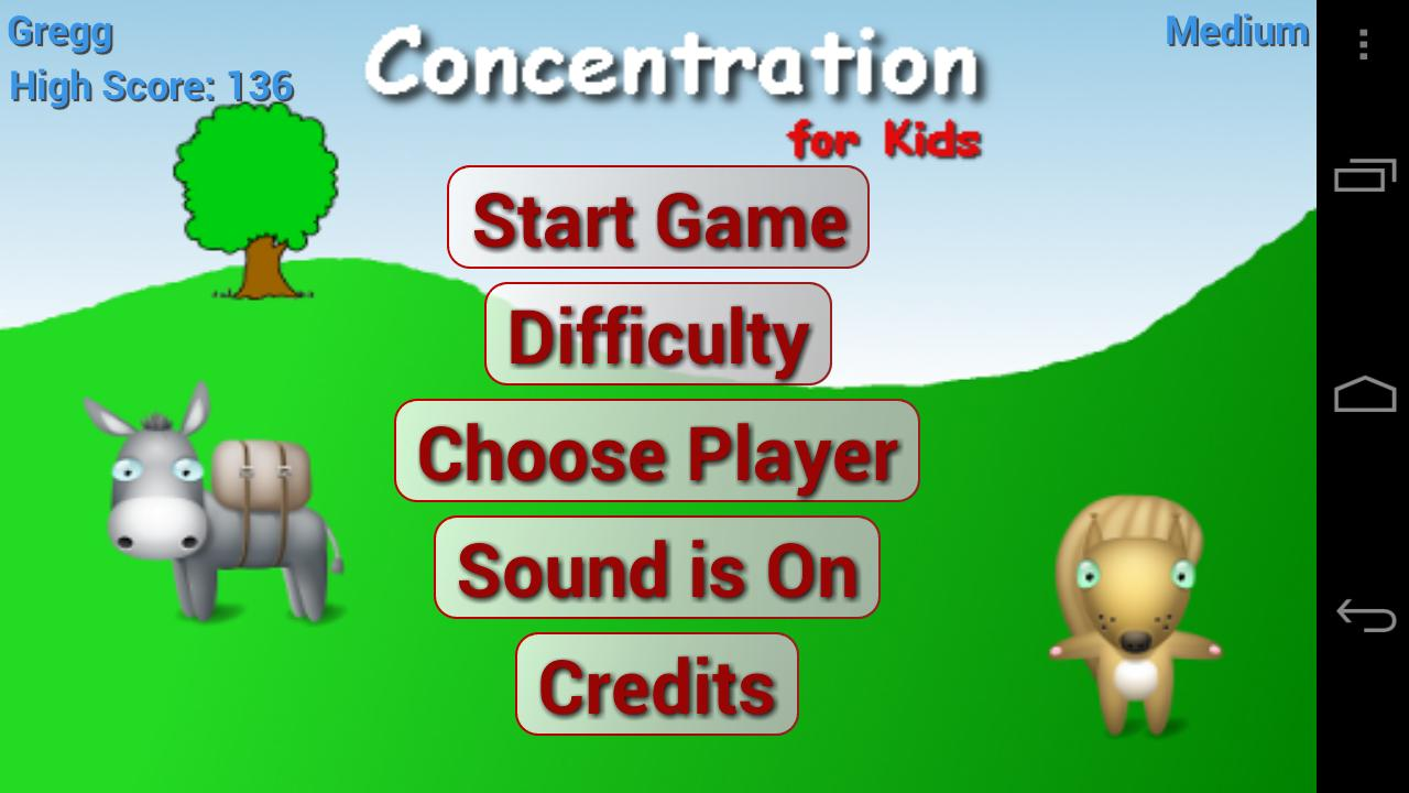 Concentration for Kids- screenshot
