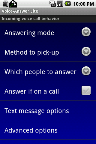 Voice-Answer Lite - screenshot