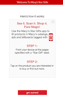 Screenshot of Macy's Star Gifts