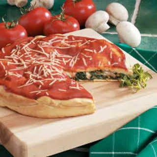 Spinach Stuffed Pizza.