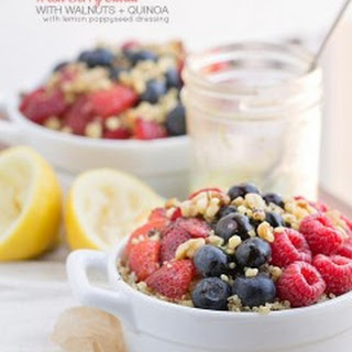 Fresh Berry Salad with Walnuts + Quinoa