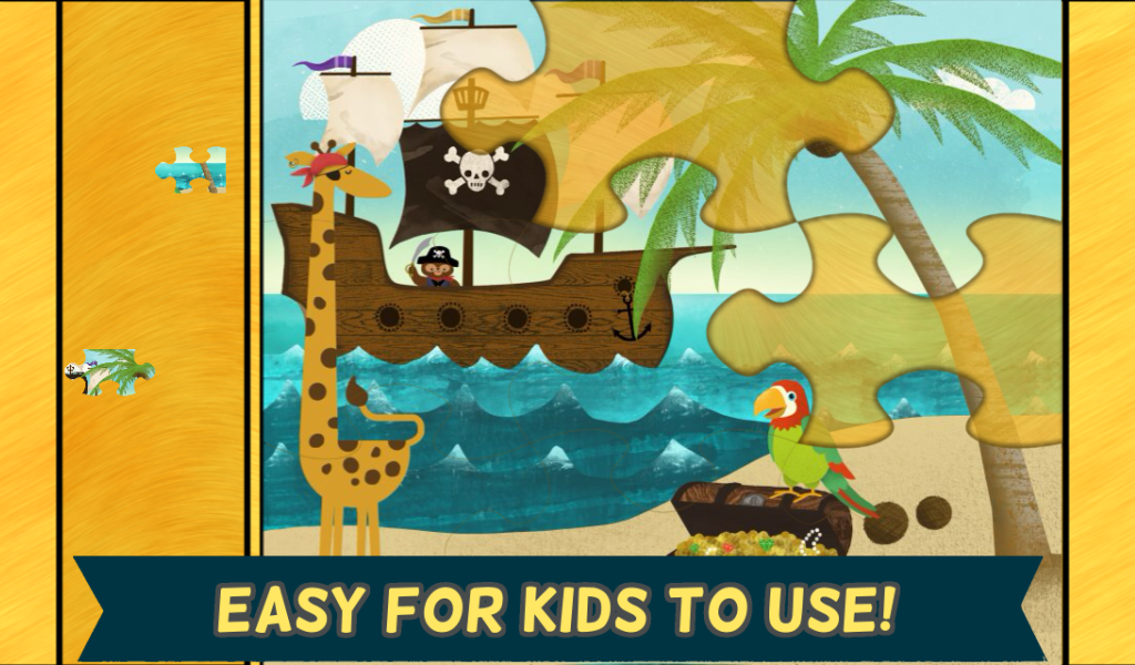 Pirate Preschool Puzzle Game- screenshot
