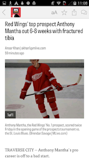 MLive.com: Red Wings News- screenshot thumbnail