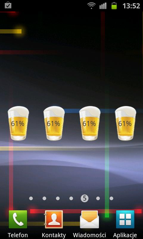 Beer Battery Widget - screenshot