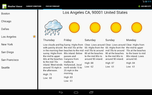 Weather Viewer For Tablets