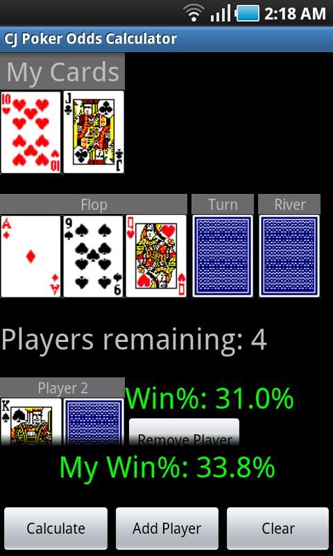 Cj Poker Odds Calculator  Android Apps On Google Play