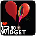 I Love Techno - Widget icon