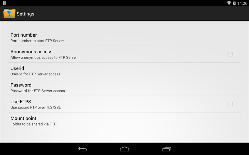 WiFi Pro FTP Server Screenshot 7
