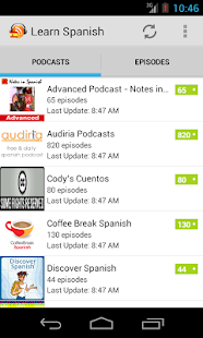 Spanish Podcasts- screenshot thumbnail