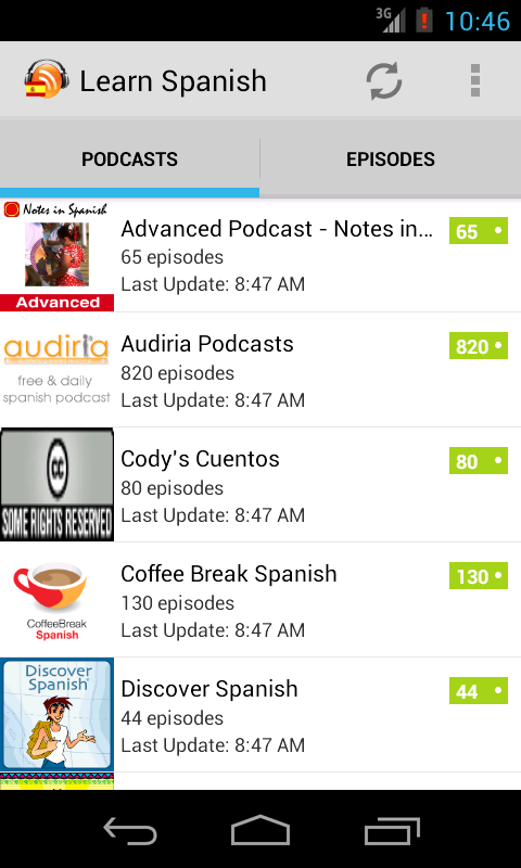 Spanish Podcasts- screenshot