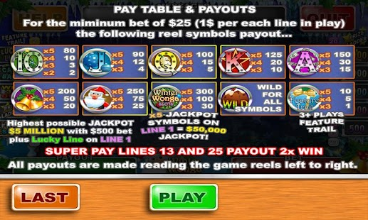 Winter Wonga Slots - screenshot thumbnail