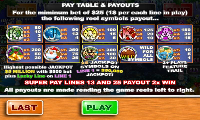 Winter Wonga Slots - screenshot