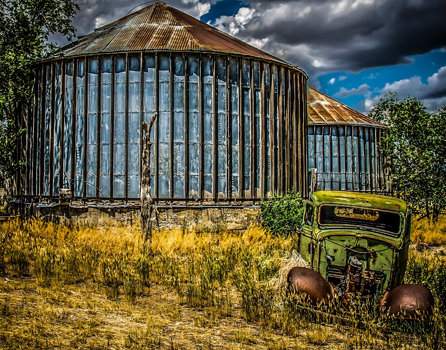 Abandoned  by Alice Burghart - Transportation Other ( utah, silos, barns, old truck,  )