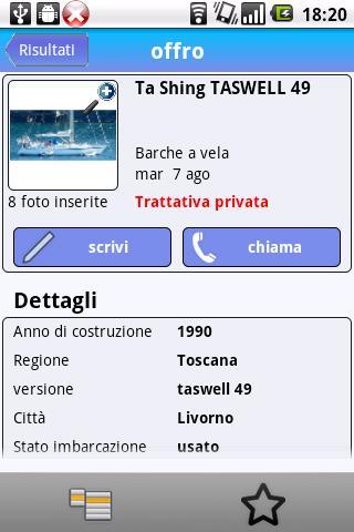 TrovoBarche- screenshot