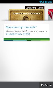 Amex Mobile - screenshot thumbnail