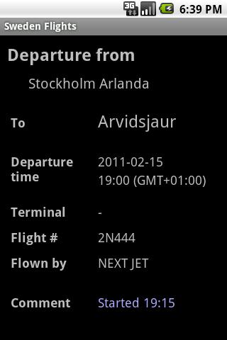 Sweden Flights- screenshot