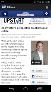 The Atlanta Business Chronicle - screenshot thumbnail