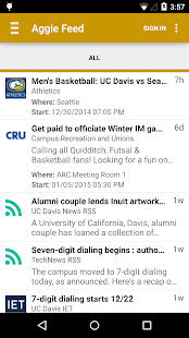 UC Davis Mobile- screenshot thumbnail