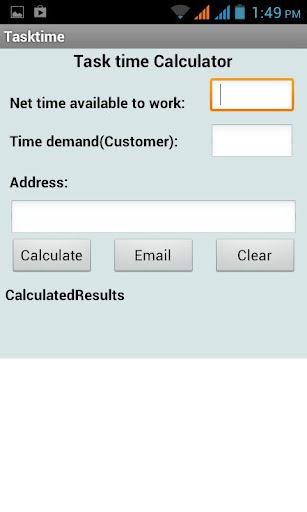 Task Time Calculator