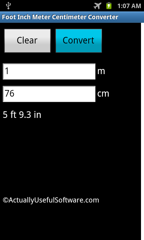 Foot Inch Meter Centimeter Android Apps On Google Play