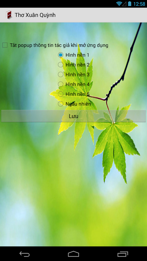 Thơ Xuân Quỳnh- screenshot