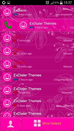 Pink Glow Dialer Theme 1.9.5 screenshot 1166860