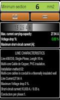 Screenshot of Electric Lines Calculator Demo