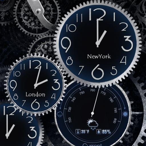 Black Clock Live Wallpaper HD 個人化 App LOGO-APP試玩