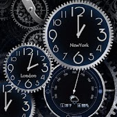 Black Clock Live Wallpaper