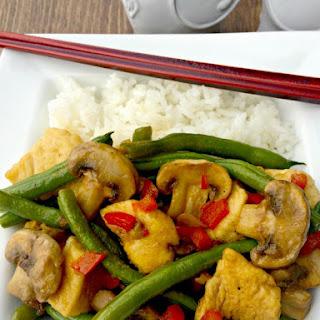 Ginger Green Beans & Mushroom Chicken Stir Fry