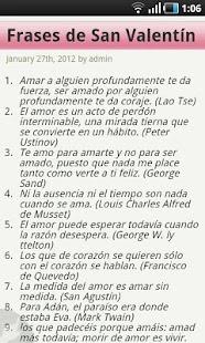 Frases de Amor San Valentín - screenshot thumbnail