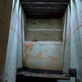 locked up by Marlou Nijpels - Buildings & Architecture Decaying & Abandoned ( urban, urbex, prison, shadow, sad, abandoned, decay )