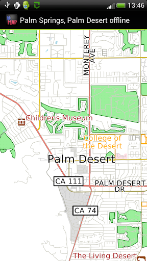 Palm Springs offline map