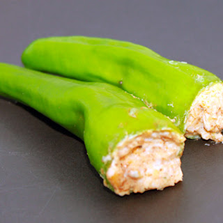 Cajun Cream Cheese Stuffed Anaheim Peppers.