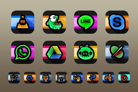 Swirl Black Icon Pack Theme v1.1.0