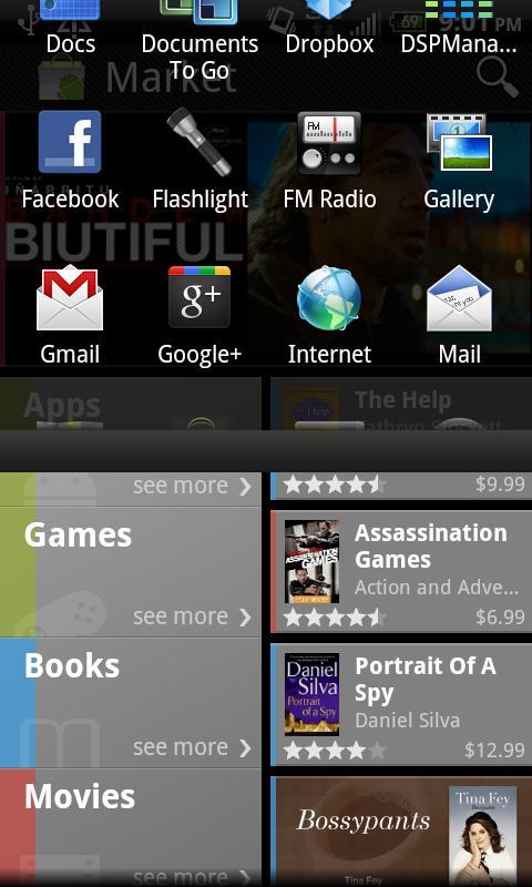 Pulldown App Drawer- screenshot