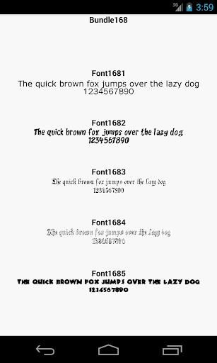 Fonts for FlipFont 168